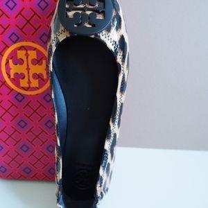 Tory Burch Minnie Travel Ballet Leopard - S: 6.5